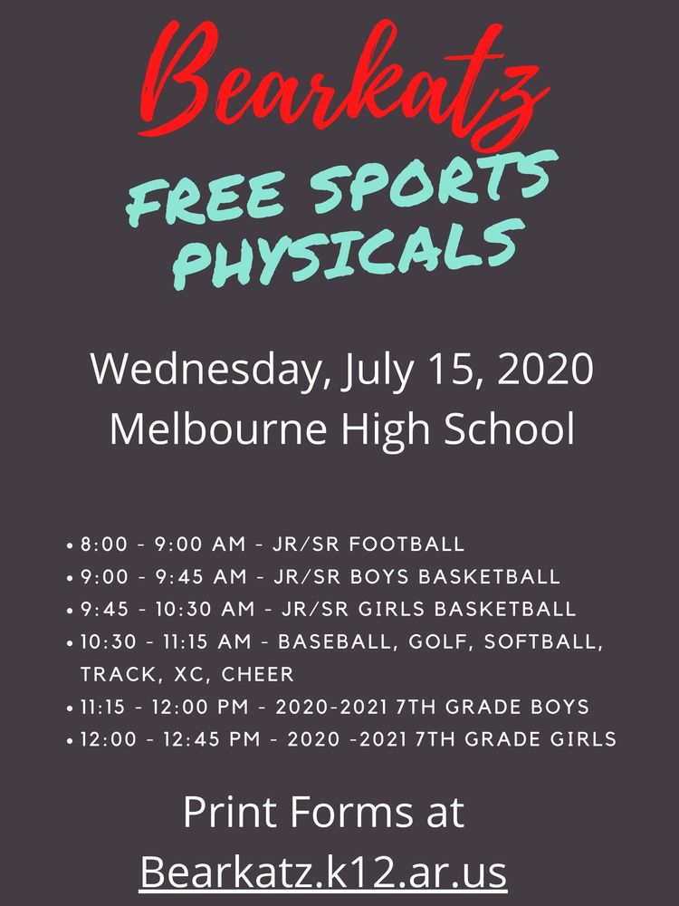 2020 - 2021 Sports Physicals