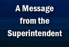 A Message from Superintendent Sublett