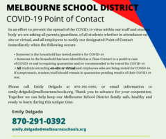 Covid-19 Point of Contact for Melbourne School District